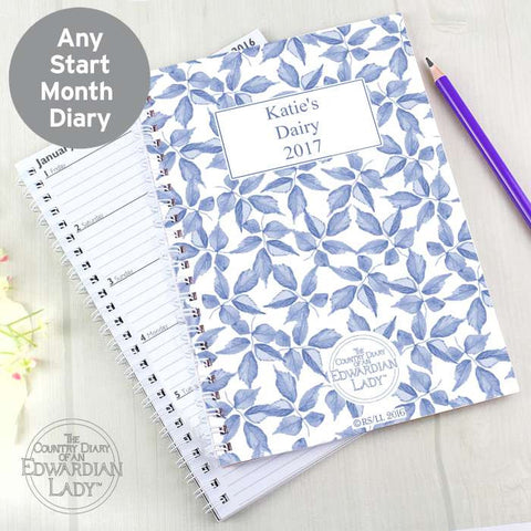 Personalised Country Diary Blue Blossom A5 Diary | ShaneToddGifts.co.uk