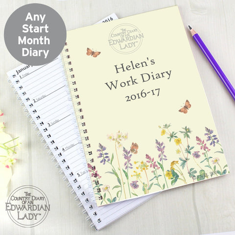 Personalised Country Diary Wild Flowers A5 Diary - Shane Todd Gifts UK