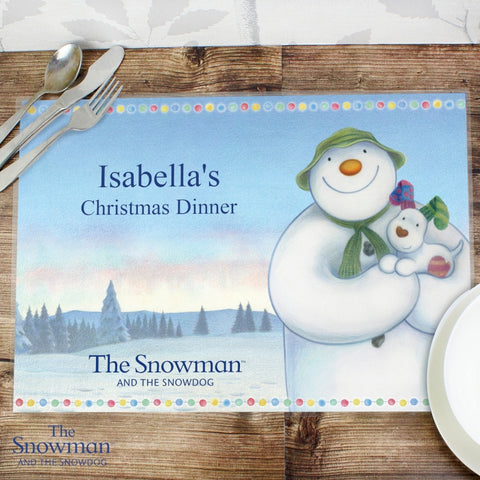 Personalised The Snowman and the Snowdog Placemat