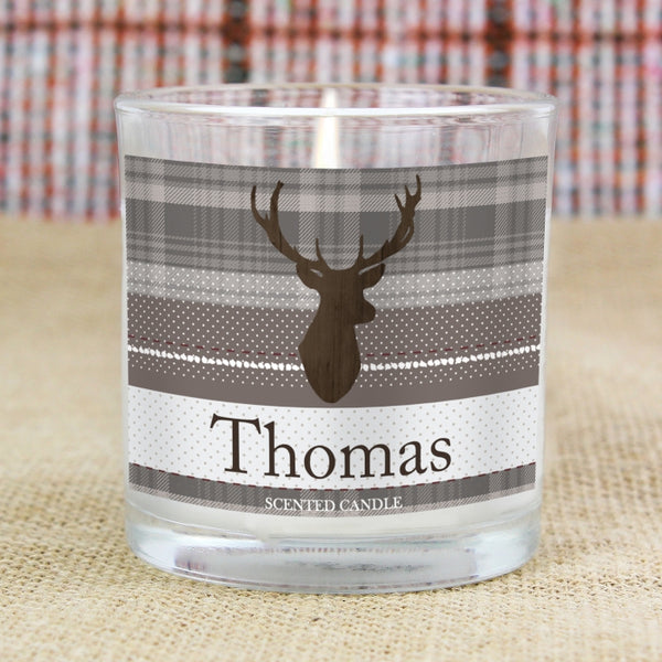personalised-highland-stag-scented-jar-candle