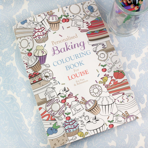 Personalised Baking Colouring Book | ShaneToddGifts.co.uk