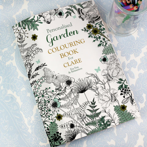 Buy Personalised Gardening Colouring Book