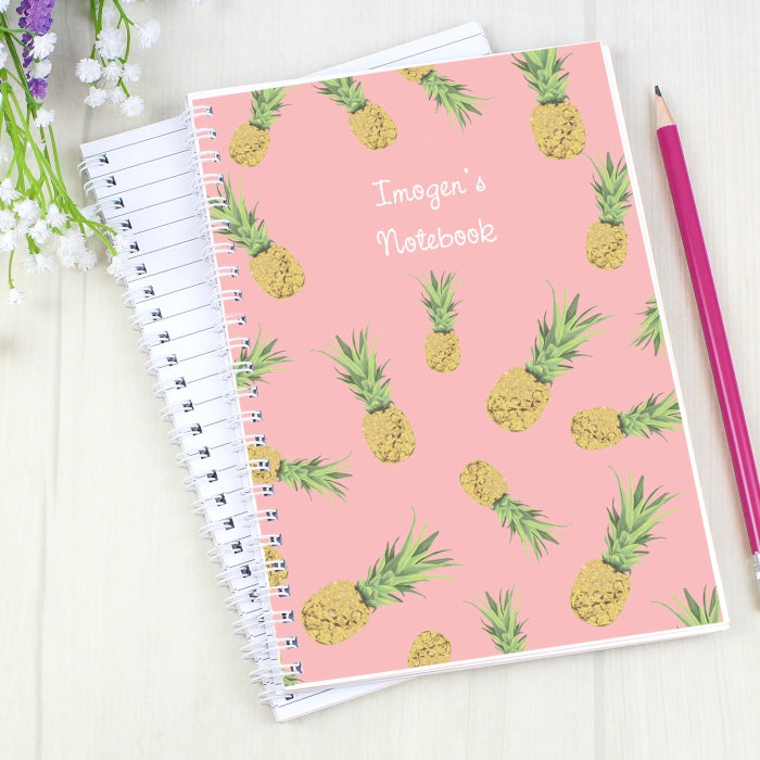 Buy Personalised Pineapple A5 Notebook