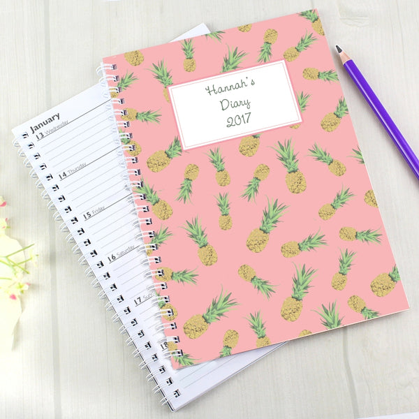 personalised-pineapple-a5-diary