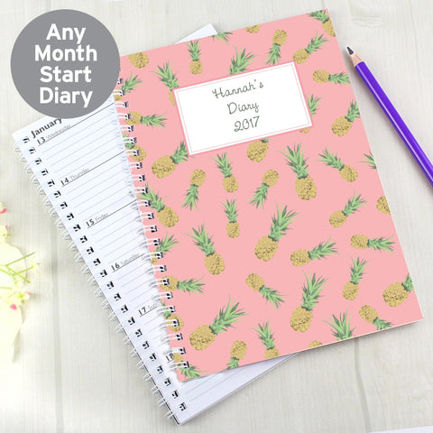 Personalised Pineapple A5 Diary