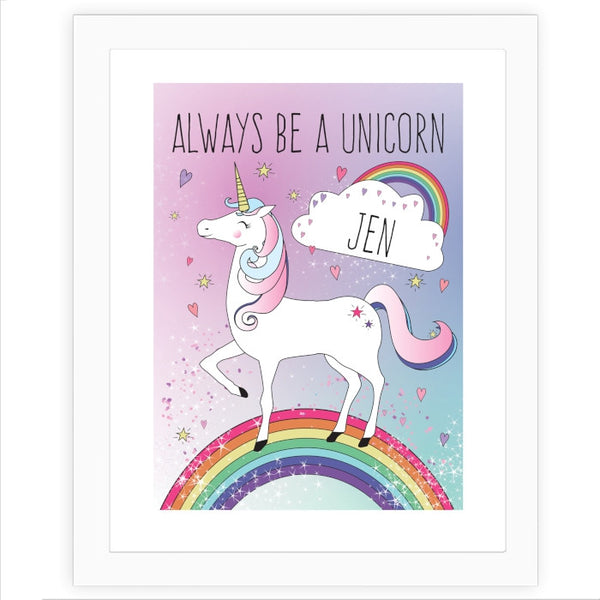 personalised-unicorn-poster-frame