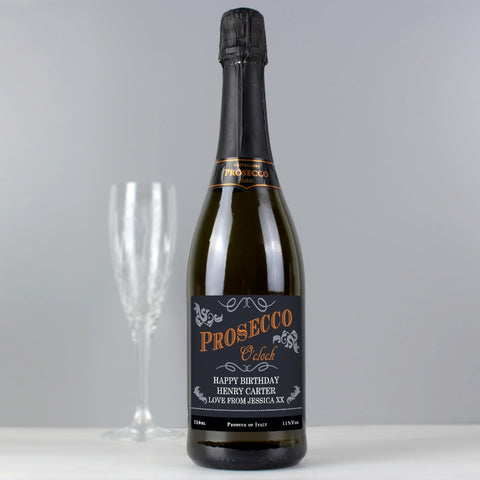Buy Personalised 'Prosecco O'Clock' Bottle of Prosecco