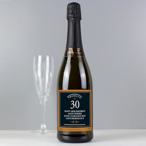 Personalised Big Age Bottle of Prosecco | ShaneToddGifts.co.uk