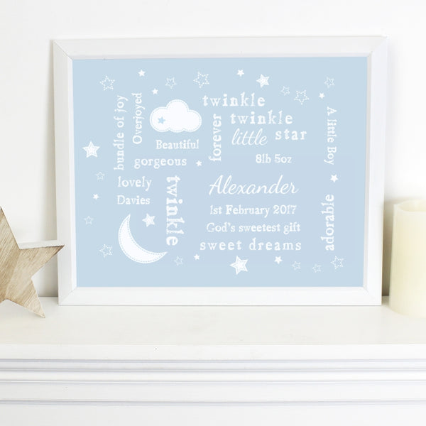 personalised-twinkle-twinkle-typography-blue-poster-frame