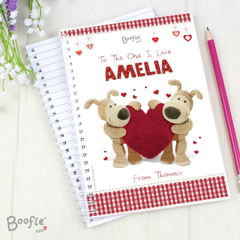 Buy Personalised Boofle Shared Heart A5 Notebook