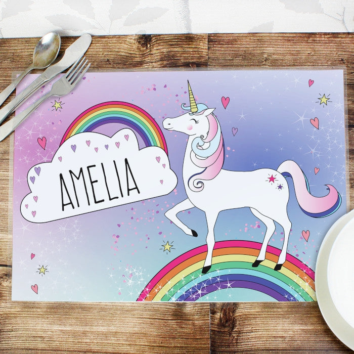 Buy Personalised Unicorn Placemat