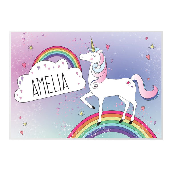 personalised-unicorn-placemat