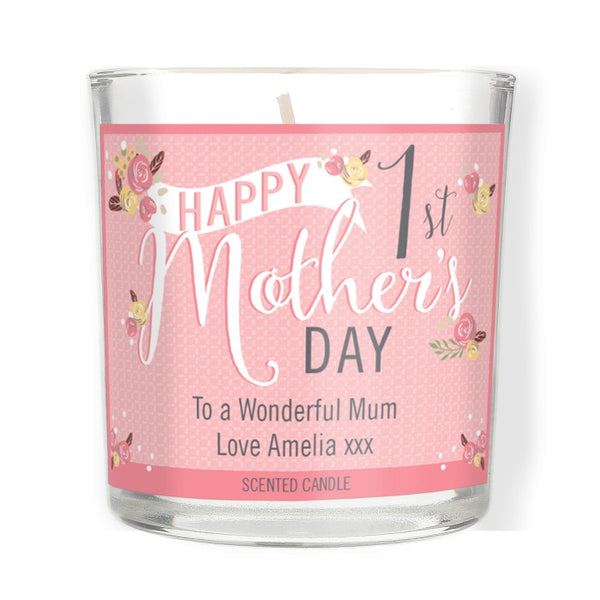 personalised-floral-bouquet-1st-mothers-day-scented-jar-candle