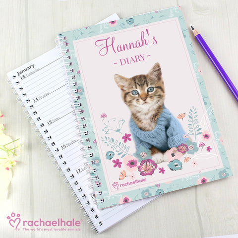 Personalised Rachael Hale Cute Kitten Diary | ShaneToddGifts.co.uk