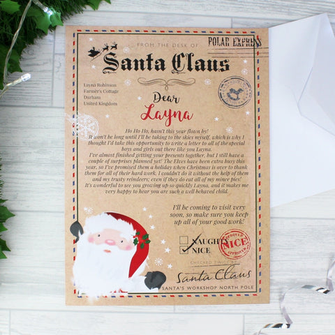 Buy Personalised Santa Claus Letter