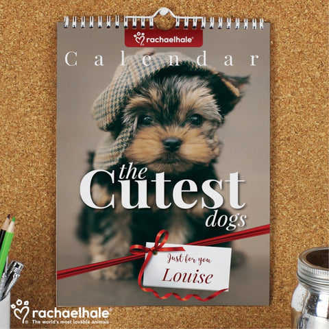 Personalised Rachael Hale 'The Cutest Dogs' A4 Wall Calendar | ShaneToddGifts.co.uk