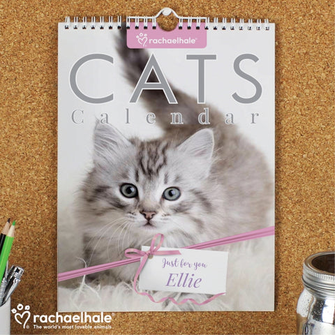 Personalised Rachael Hale A4 Cats Calendar | ShaneToddGifts.co.uk