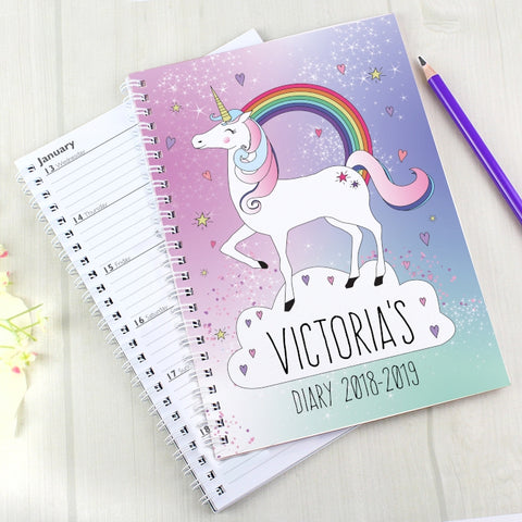 Buy Personalised Unicorn A5 Diary
