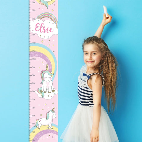 Buy Personalised Baby Unicorn Height Chart