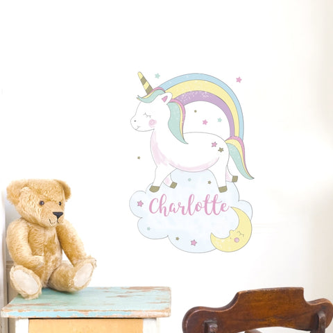 Buy Personalised Baby Unicorn Wall Art