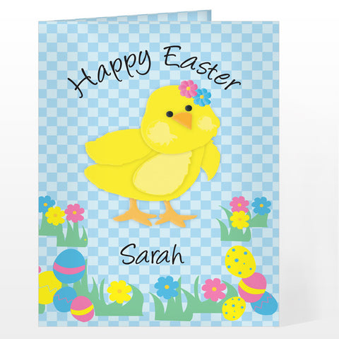 Buy Personalised Happy Easter Chick Card