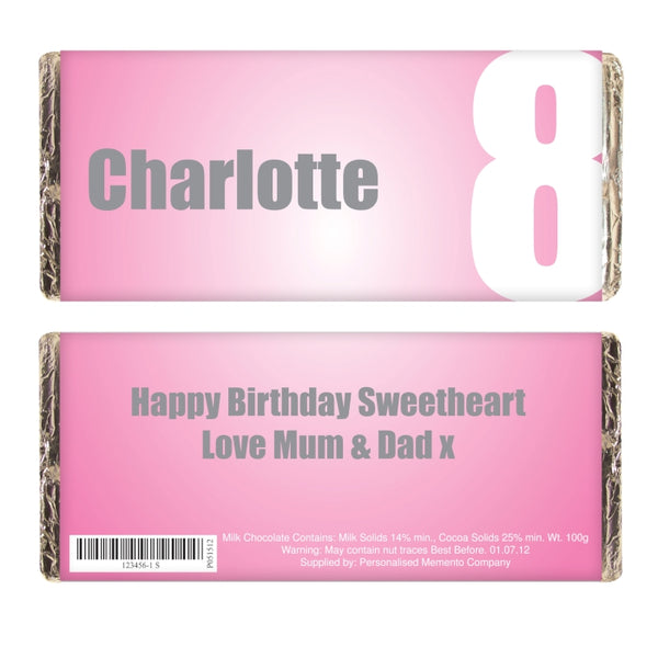 personalised-pink-number-milk-chocolate-bar