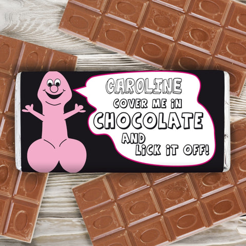 Buy Personalised Willy Milk Chocolate Bar