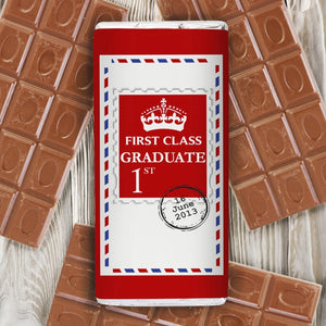 Personalised 1st Class Milk Chocolate Bar