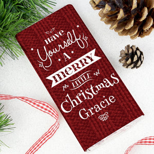 Personalised Have Yourself A Merry Little Christmas Milk Chocolate Bar