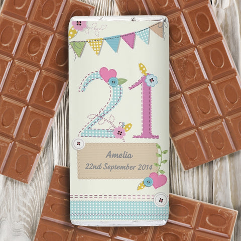 Personalised Birthday Craft Milk Chocolate Bar