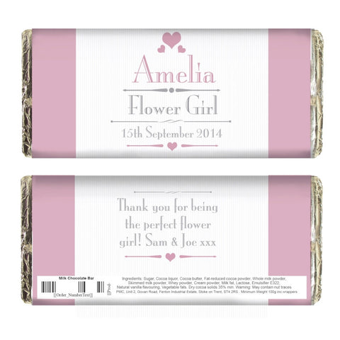 Buy Personalised Decorative Wedding Female Milk Chocolate Bar