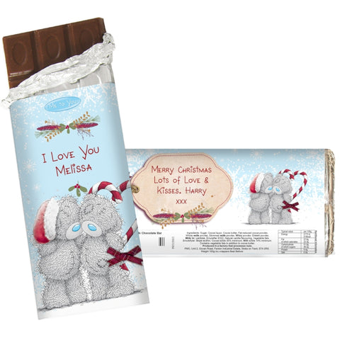 Personalised Me To You Couple Christmas Milk Chocolate Bar | ShaneToddGifts.co.uk