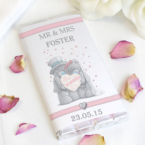 Personalised Me To You Wedding Couple Milk Chocolate Bar - Shane Todd Gifts UK