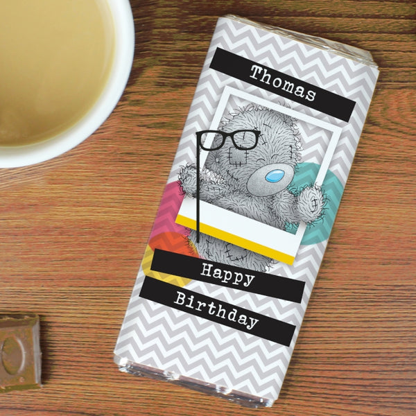 Personalised Me to You Trendy Snapshot Milk Chocolate Bar