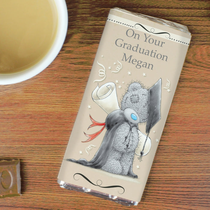 Personalised Me to You Graduation Milk Chocolate Bar, Food Items by Low Cost Gifts