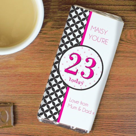 Buy Personalised Harlequin Milk Chocolate Bar