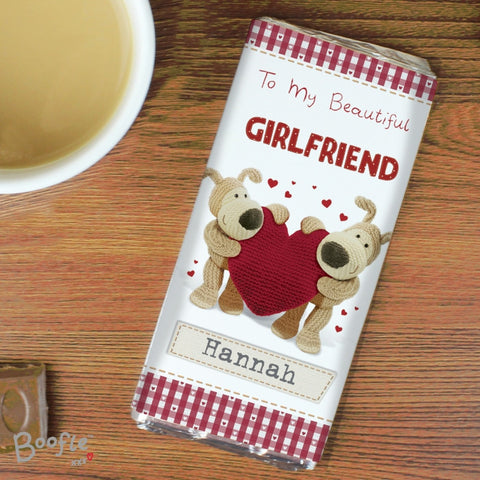 Personalised Boofle Shared Heart Chocolate Bar