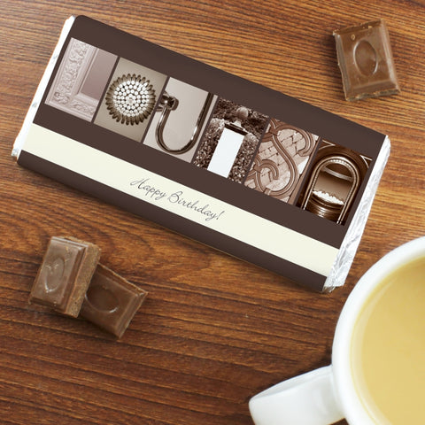 Personalised Any Message Affection Art Chocolate Bar