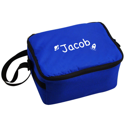 Buy Personalised White Rocket Lunch Bag