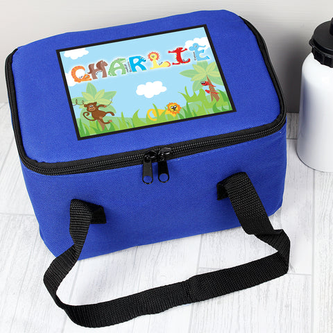 Buy Personalised Animal Letter Lunch Bag