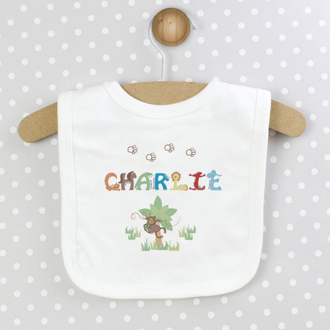 Personalised Animal Alphabet Baby Bib | ShaneToddGifts.co.uk