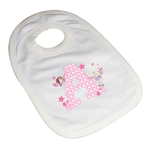 Personalised Fairy Letter Baby Bib