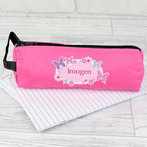 Buy Personalised Butterfly Pencil Case