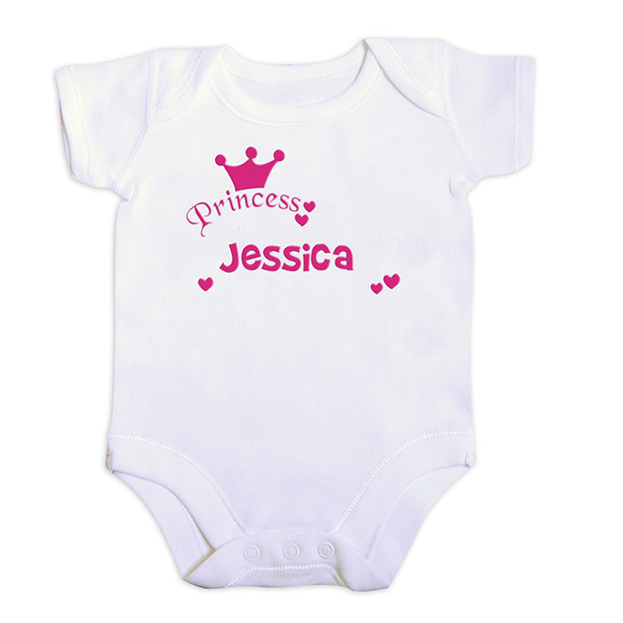 Personalised Little Princess Pink 9-12 Months Baby Vest, Clothing & Accessories by Gifts24-7