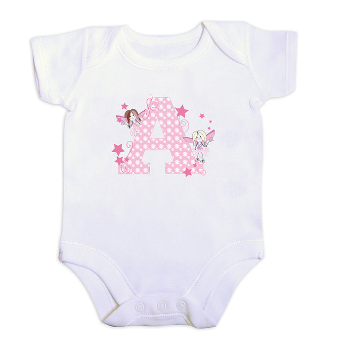 Personalised Fairy Letter 6-9 Months Baby Vest, Clothing by Low Cost Gifts
