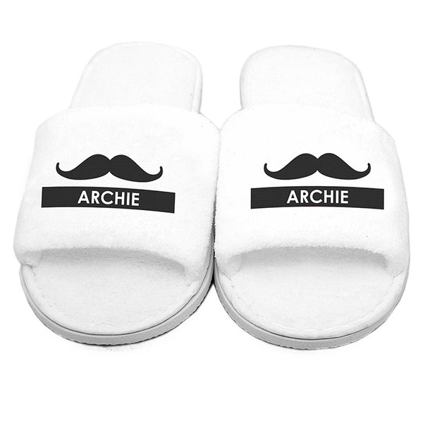 personalised-moustache-velour-slippers