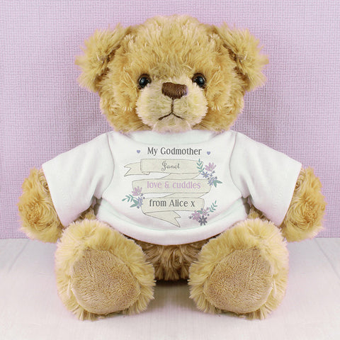 Buy Personalised Garden Bloom T-Shirt Message Bear