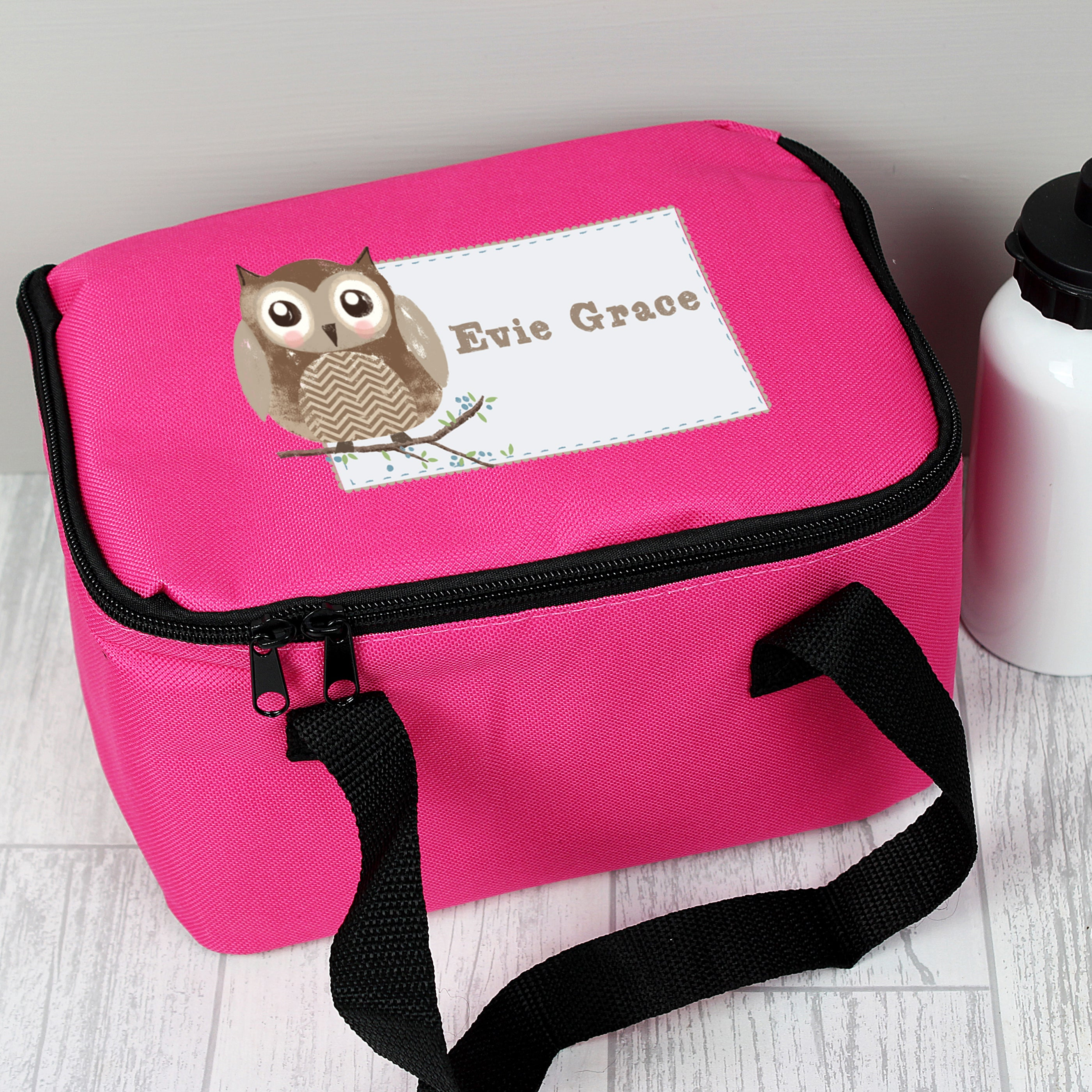 Personalised Woodland Owl Lunch Bag, Food & Beverage Carriers by Gifts24-7