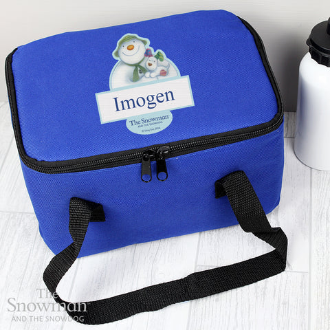 Personalised The Snowman and the Snowdog Lunch Bag - Shane Todd Gifts UK