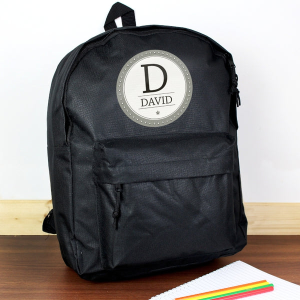 personalised-star-name-black-backpack